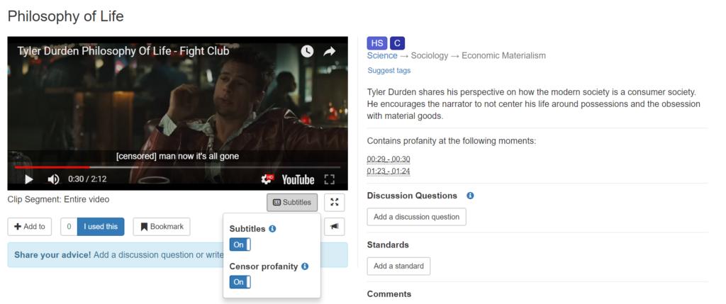 Censor Profanity in Subtitles Screenshot