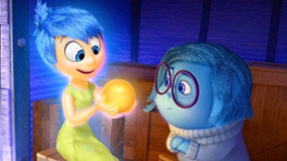 The characters Joy and Sadness gazing at a golden orb known to be one of Riley's Core Memories. Film example that promotes SEL concepts  and student behavior and affects their outcomes later in life.