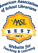 Star shaped award branded with the AASL emblem of the American Association of School Librarians.